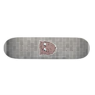brown hairy furry monster skate board