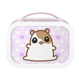 Brown Hamster Purple Heart Lunchbox