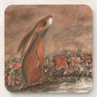 Brown Hare Coaster Set