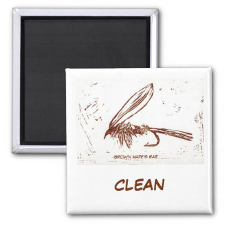"""Brown Hare's Ear"" Dish Washer Status Magnet"