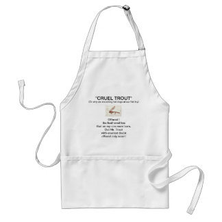 """""""Brown Hare's Ear Wet Fly-Cruel Trout""""  Apron"""
