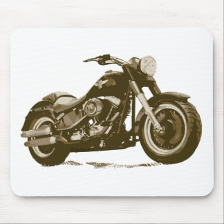 Brown Harley Motorcycle Mouse Pad