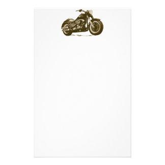 Brown Harley Motorcycle Stationery
