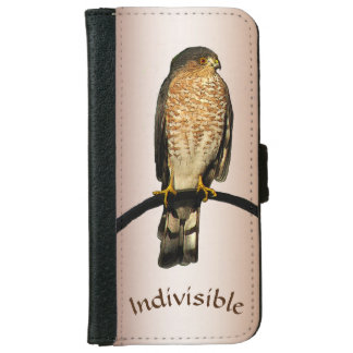 Brown Hawk Indivisible iPhone 6/6s Wallet Case