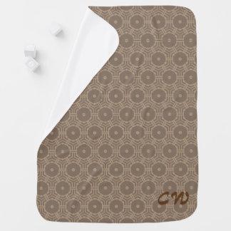 Brown hexogon pattern initials buggy blanket