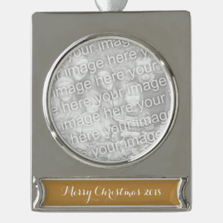 Brown Honey Silver Plated Banner Ornament