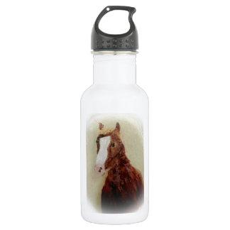 Brown Horse Art 532 Ml Water Bottle
