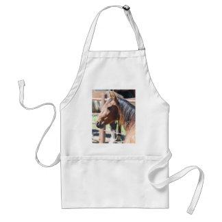brown horse head adult apron