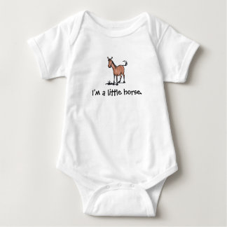 Brown Horse I'm a little horse Baby Bodysuit