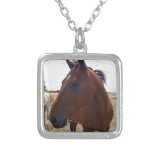 Brown Horse Magic, Silver Plated Necklace