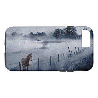 Brown Horse on a Blue Farm Phone Case