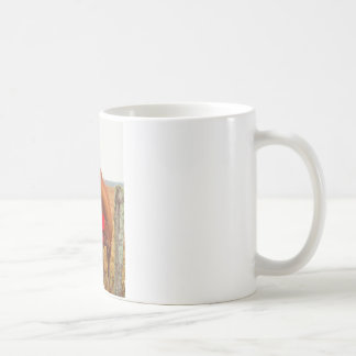 Brown horse Red Bow Mugs