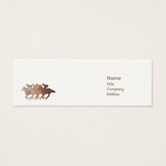 Brown Horse - Skinny Mini Business Card