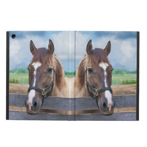Brown Horse with Halter Cover For iPad Air