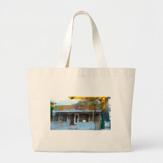 Brown House in Key West Large Tote Bag