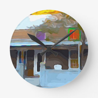 Brown House in Key West Round Clock