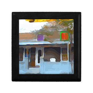 Brown House in Key West Small Square Gift Box