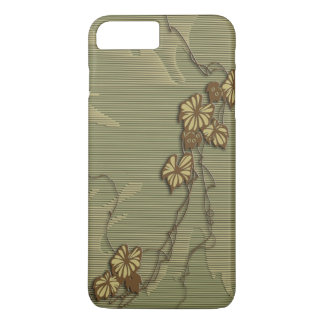 Brown ivy and grape leaf iPhone 7 plus case