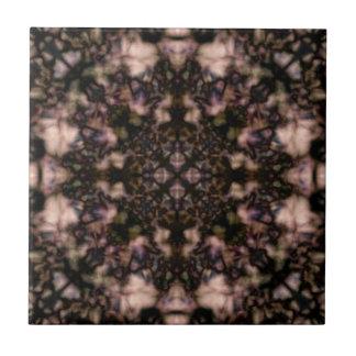 Brown kaleidoscope pattern ceramic tile