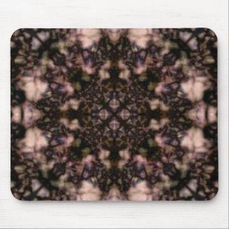 Brown kaleidoscope pattern mouse pad