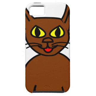 Brown kitten iPhone 5 cases