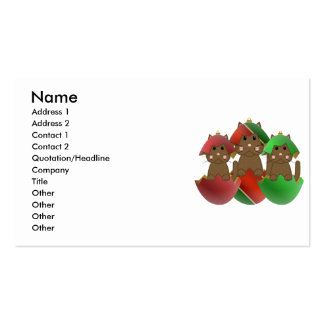 Brown Kitty In Christmas Ornaments Business Card