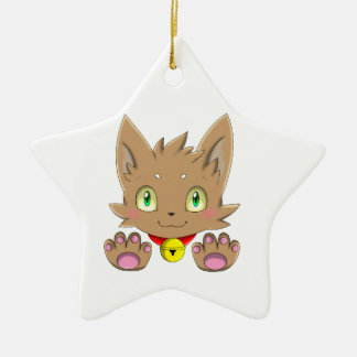 Brown Kitty Ornament