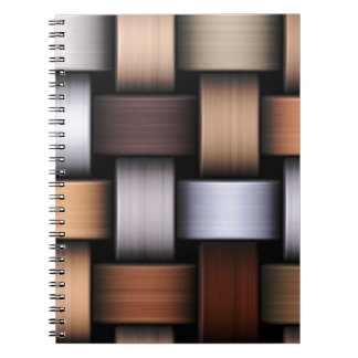 Brown knit texture notebooks