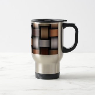 Brown knit texture travel mug