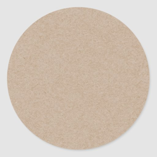 Brown Kraft Paper Background Printed Round Stickers