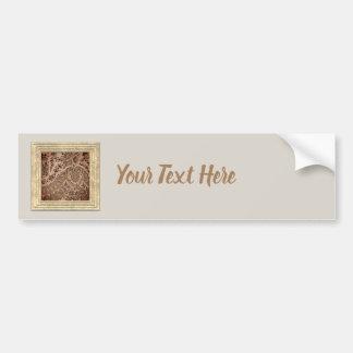 Brown Lace Bumper Sticker