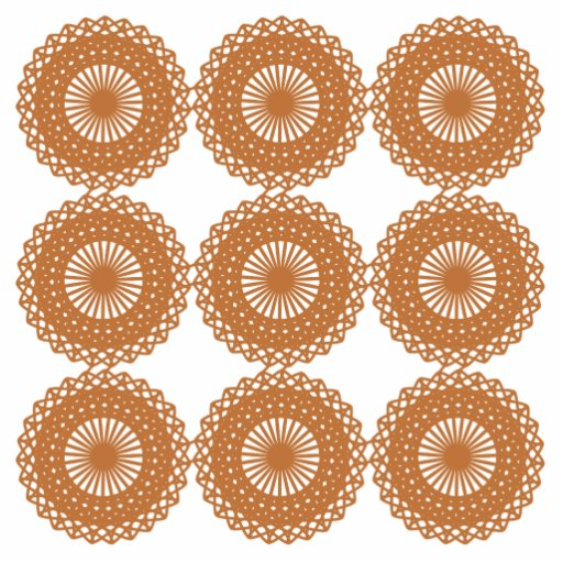 Brown Lace Pattern Design. Photo Cut Out