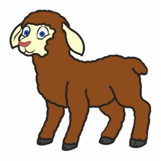 Brown Lamb Photo Sculpture Badge