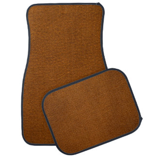 BROWN LEATHER CAR MAT