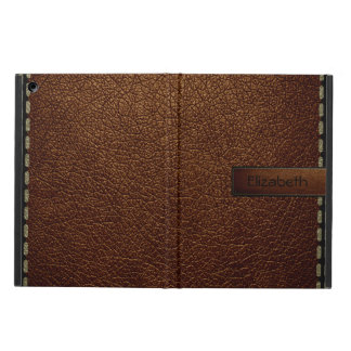 Brown leather look brown tag cover for iPad air
