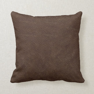 Brown Leather Print Texture Pattern Cushion