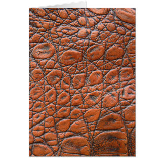Brown leather skin texture card