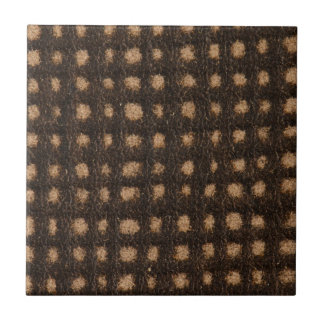Brown leather small square tile