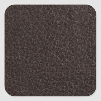 Brown leather square sticker