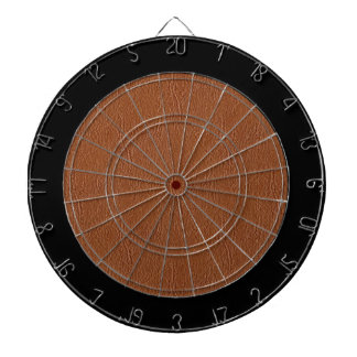 Brown Leather Texture Dart Board