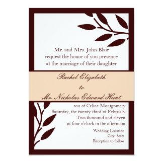Brown Leaves: Invitation