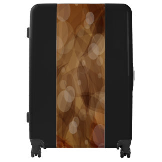 Brown Leaves Large Sized Luggage Suitcase