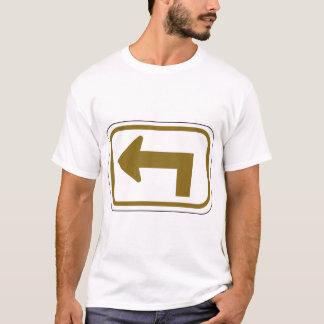 Brown Left Arrow Mens T-Shirt