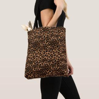 Brown Leopard Pattern Tote Bag