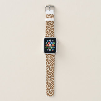 Brown Leopard Print Apple Watch Band