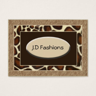 brown leopard print Chic Business Cards