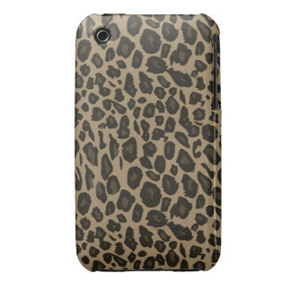 Brown Leopard Print chic cool iPhone 3 Case-Mate Cases