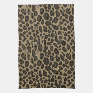 Brown Leopard Print Tea Towel