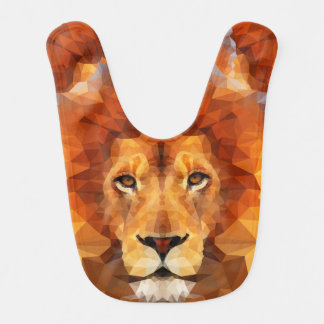 Brown Lion Head Bib