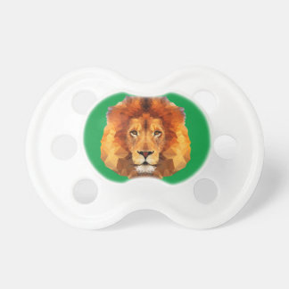 Brown Lion Head On Any Color Background Baby Pacifiers